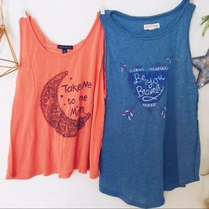 Bundle Set of two girl tanks in size L / 10/12
